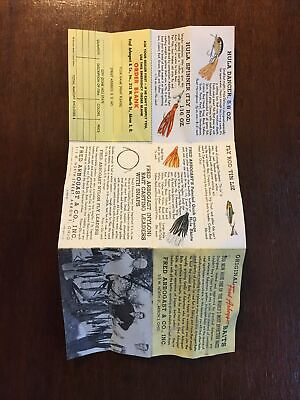 Vintage Jitterbug Fishing Lures Fred Arbogast Flyer Print Ad Insert For Lure Box