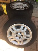 4 x steel wheels and tyres with subaru hub caps Umina Beach Gosford Area Preview