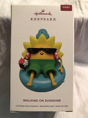 Walking on Sunshine Sun Wearing Sunglasses Musical 2019 Hallmark Ornament (Sun Wearing Shades)
