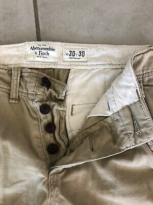 NWOT Abercrombie & Fitch A&F Chinos Pants 30x 30 Button Fly