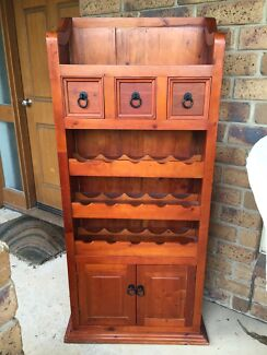 Cabinet wine shelf drawers hall stand storage cupboard Moana Morphett Vale Area Preview