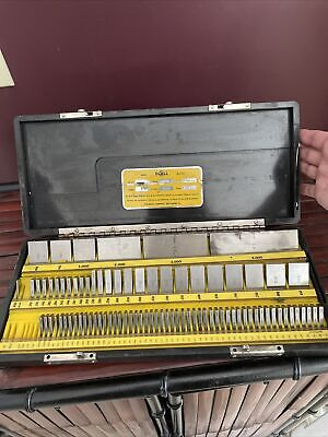 Doall Inspection Gage Blocks Set 85 Piece. A To Current Calibration Grades Box