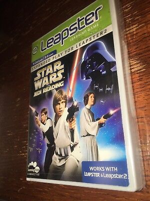 Leap Frog Leapster Learning Game  New Star Wars Jedi Reading Game