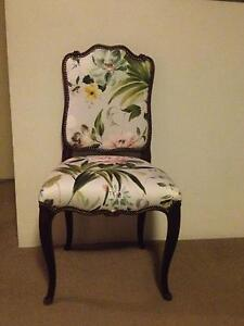 19th century French Saloon Chairs.  Neena Campbell fabric Ascot Brisbane North East Preview