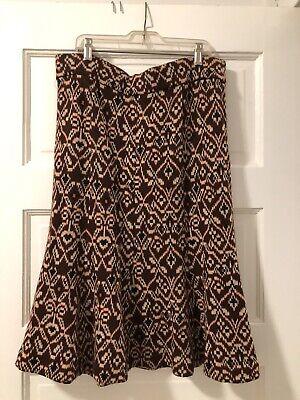 DIANE VON FURSTENBERG vintage brown geometric wool blend knit tulip skirt wms 12 Knit Tulip Skirt
