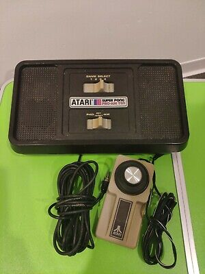 1977 Vintage ATARI Super Pong PRO AM TEN With Working Paddle/Controller