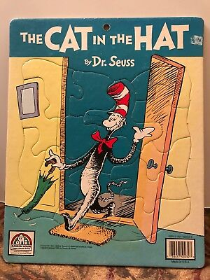 1988 Random House The Cat In The Hat By Dr. Seuss Puzzle Made in USA (Cinderella In The Cardboard)