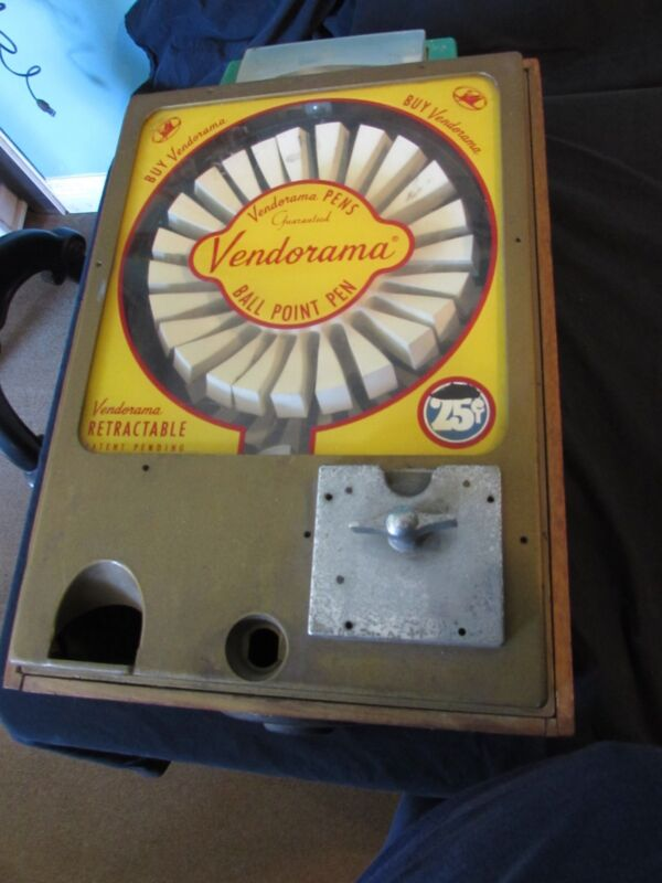 Original Vintage VENDORAMA Ball Point Pen Vending Machine