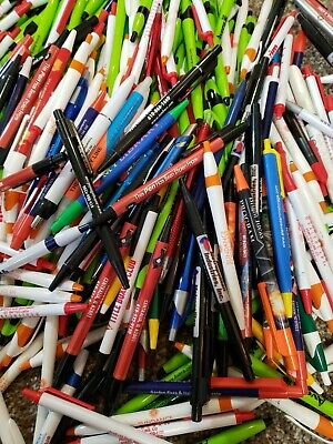 2 Lbs. Wholesale Lot Misprint Ink Pens Ball Point Retractable Huge Mixed Lot