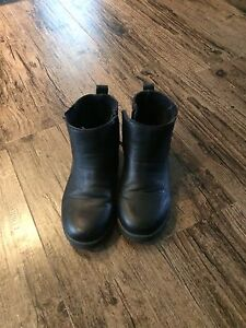 Boys size 13 black shirt boots