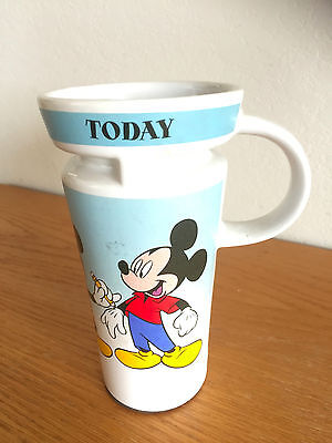 Disney Store Travel Coffee Mug 3 Stages Of Mickey Mouse Development 1928  6 1 2