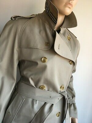 BURBERRY MENS MED TO LARGE 40-42 DOUBLE BREASTED TRENCH COAT RAINCOAT JACKET