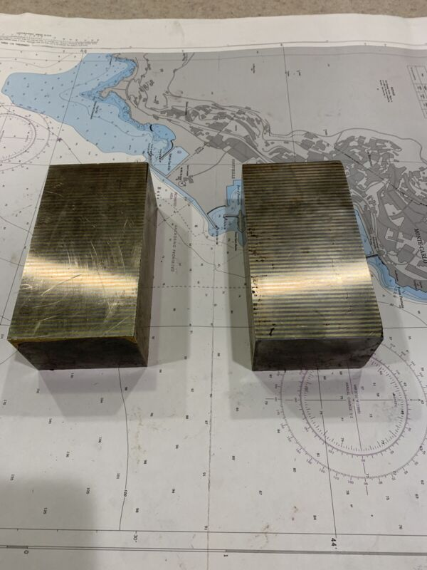 Large Pair Of Magnetic Transfer Parallel Blocks.