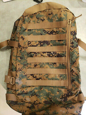75ec64a4b2 USMC Marine ILBE WOODLAND MARPAT 3 Day Assault Pack BACKPACK MILITARY ISSUE  used