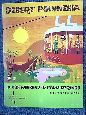 SHAG Josh Agle  11 x14 Desert Polynesia Promo Print Poster  2002 A Tiki Weekend