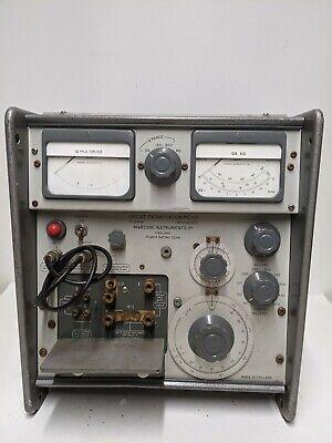 Vintage Marconi Radio Q Meter Tf1245a Ham Radio Instrument Rare