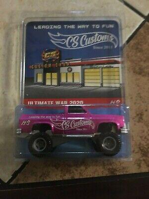 2020 Hot Wheels CS Customs Ultimate WarGames 83 PINK Chevy Silverado 4x4 VHTF