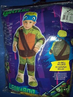 Tmnt Teenage Mutant Ninja Turtles Halloween Kostüm Kleinkind Kind 1-2 Years Neu ()