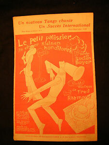 Partitur-Le-petit-konditor-Lucien-boyer-Fred-Raymond-Music-blatt