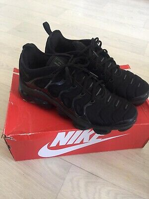 Mens Nike Air VAPORMAX PLUS Black Uk 11 VGC RRP £170