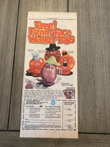 #03 FUNNY FACE WALKER TOYS OFFER Sunday Advertisement  1971