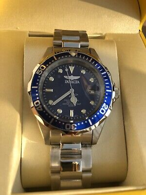 Invicta Men's 9204 Pro Diver Collection Silver Tone Watch Stainless Steel Mid Sz