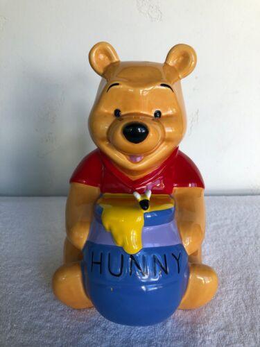 Large Vintage 80s Disney Winnie the Pooh Honey Hunny Pot Ceramic Coin Piggy Bank