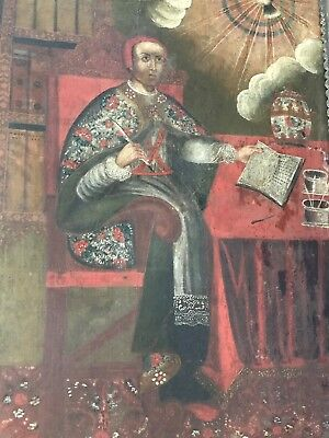 18th Century Peruvian Bishop Oil Painting Lima Viceroy Diego Morcillo Rubio