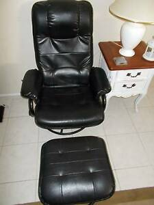 Excellent condition-Black Massage Recliner with Footrest Prestons Liverpool Area Preview