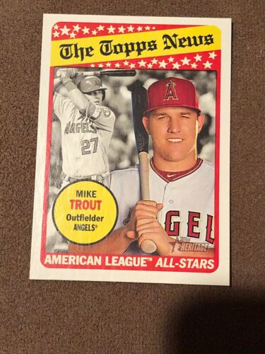 2018 Topps Heritage American League All-Stars #47 Mike Trout