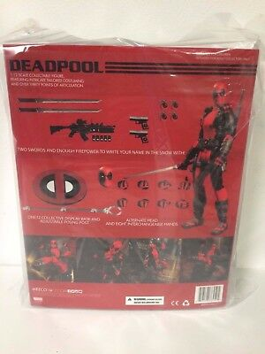 IN HAND!!! MEZCO TOYZ DEADPOOL RED VERSION ONE:12 COLLECTIVE FIGURE