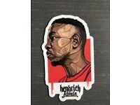 "Kendrick Lamar Logo 5/"" Wide White Vinyl Decal Sticker BOGO"