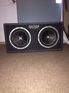 "True Dual 10"" Kicker Subs and Kicker Amp"