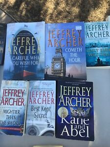 6 Jeffrey Archer books - 4 soft cover and 2 hard cover.
