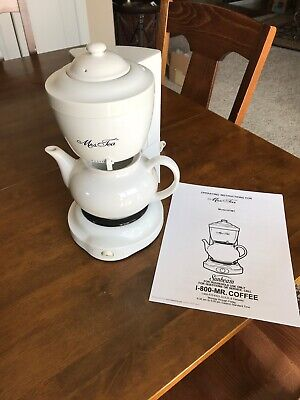 Mrs. Tea by Mr. Coffee 6 Cup Automatic Hot Tea Maker Model #HTM1 White