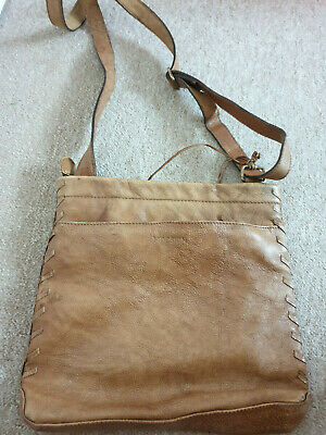 Hidesign brown leather crossbody bag