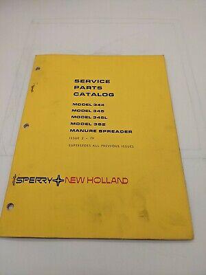 New Holland Service Parts Catalog Model 344 345 362 Manure Spreader 2-79