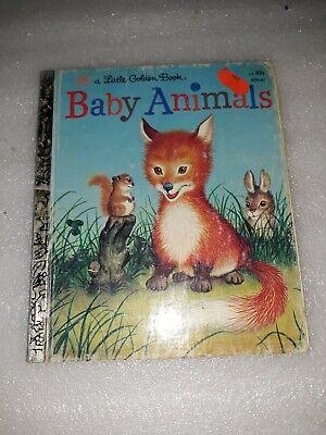 Vintage Little Golden Book Baby Animals