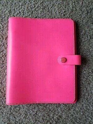A5 Filofax Original Leather Organizer Planner - Fluoro Pink