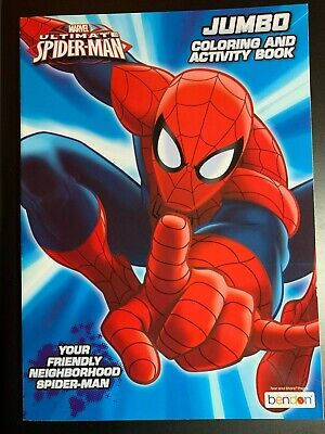 Marvel SPIDER-MAN JUMBO COLORING & ACTIVITY BOOK YOUR FRIENDLY NEIGHBORHOOD SM](Spiderman Coloring Book)