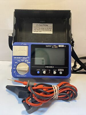 Hioki Ir4057-20 5-range 50 To 1000v Digital Insulation Resistance Tester
