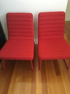 2 x red armchairs Stirling Stirling Area Preview