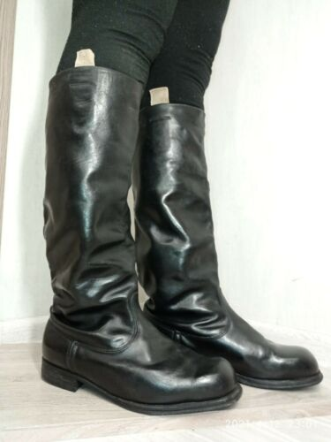 Sapogi boots Soviet Russian Military Uniform Officer PARADE Boots Size 42 W