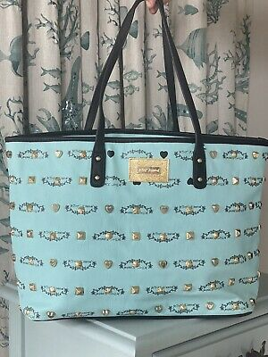 Betsey Johnson Studded Tiffany Blue Logo Tote