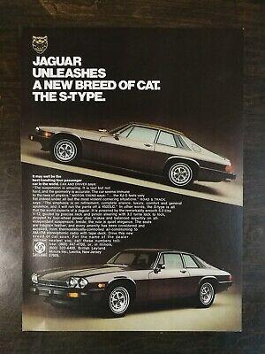 Vintage 1976 Jaguar XJ-S S-Type Full Page Original Color Ad