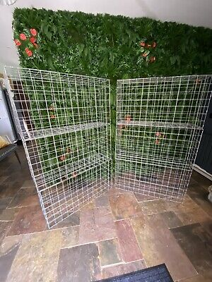 6x Gabion Baskets Cages Stone Wire Mesh Planter 100 x 53 x 30cm with mesh Clips
