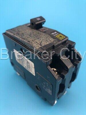 Square D Qo250 50 Amp 2 Pole Circuit Breaker Type Qo Plug On 120240v Read