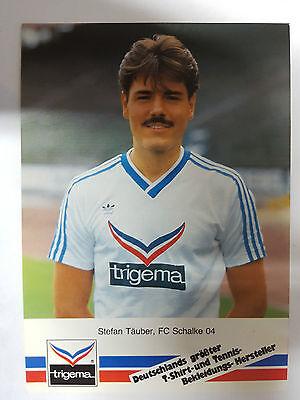 AK o.Orig.AG Stefan Täuber Fußball FC Schalke 04 Saison 86/87 Rarität!
