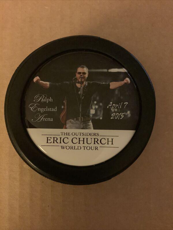 Eric Church 2015 Ralph Engelstad Arena Hockey Puck Extremly Rare April 7 Concert
