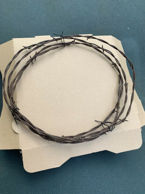 Genuine Texas Barb Barbed Wire Rusty Weathered Vintage 8-9 Ft Rustic Arts Crafts